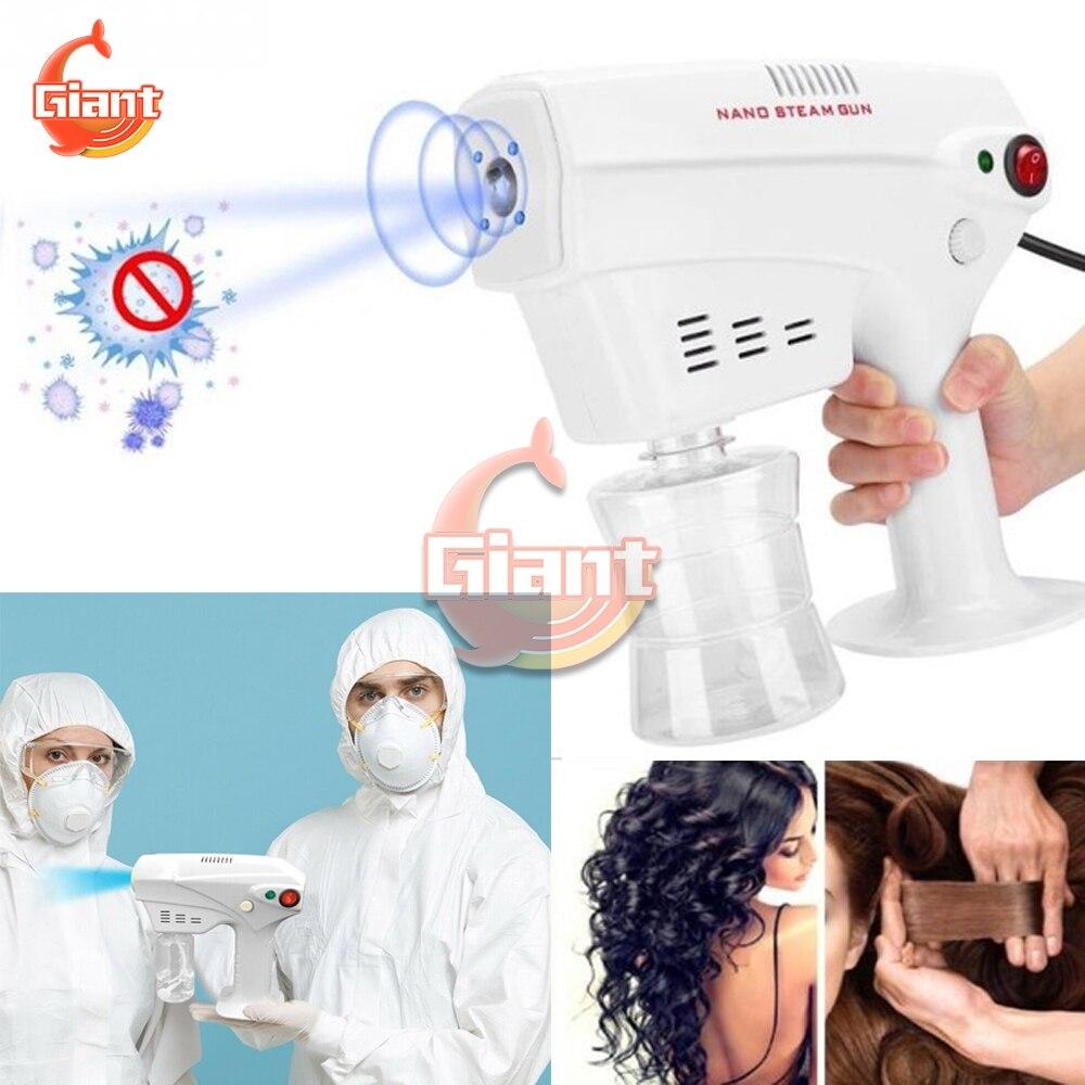 110V-240V Atomizing Sprayer Sprayer Machine Disinfection Blue Light Nano Steam Spray Gun Disinfection Nano Spray Gun EU/US Plug