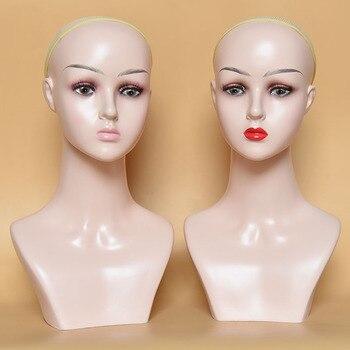 Women PVC Head Mannequin Fashionable Style Head Model Hot Sale