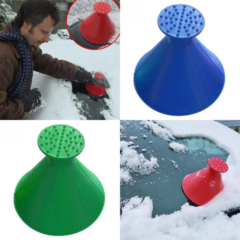 Auto Car Magic Window Windshield Car Ice Scraper Shaped Funnel Snow Remover Deicer Cone Deicing Tool Scraping