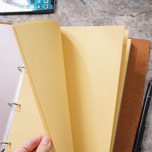 Image 5 - Yeni gelenler klasik iş not defteri A4 hakiki deri kılıf gevşek yaprak defter günlüğü seyahat dergisi Sketchbook planlayıcısı