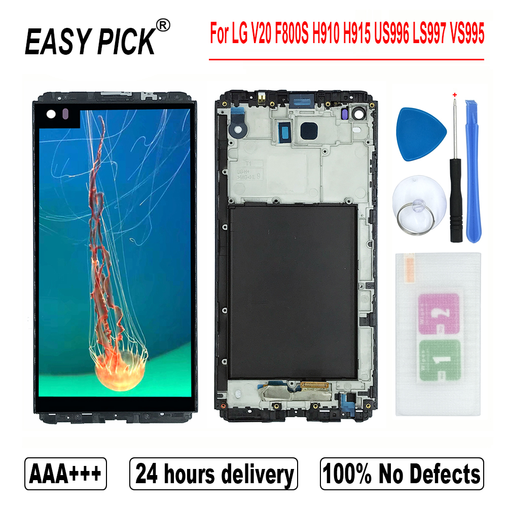 For LG V20 F800S F800L F800K H990DS H910 H918PR H915 H990N US996 H990TR LS997 VS995 LCD Display Touch Screen Digitizer AssemblyMobile Phone LCD Screens   -