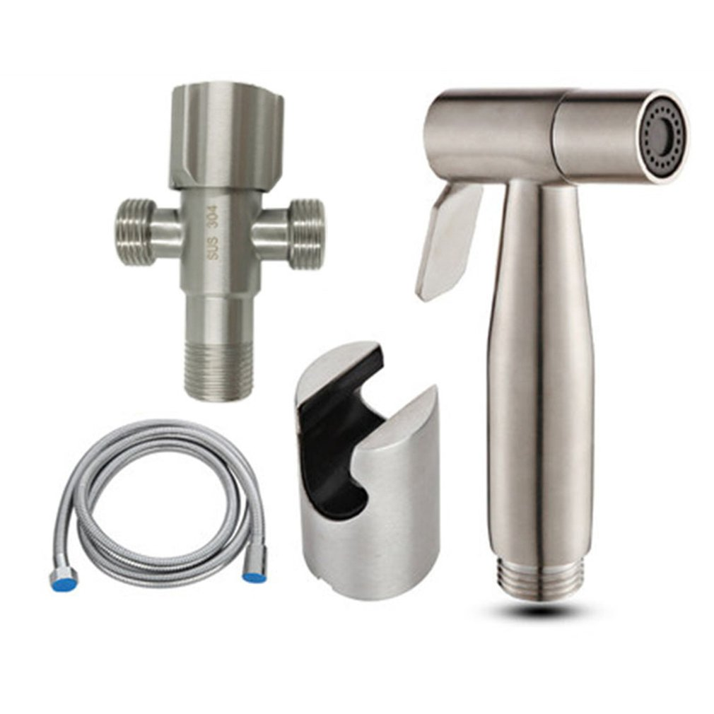 Cleansing Body Blisters 304 Stainless Steel Toilet Spray Gun Faucet Set Knob Type Booster Flusher Nozzle