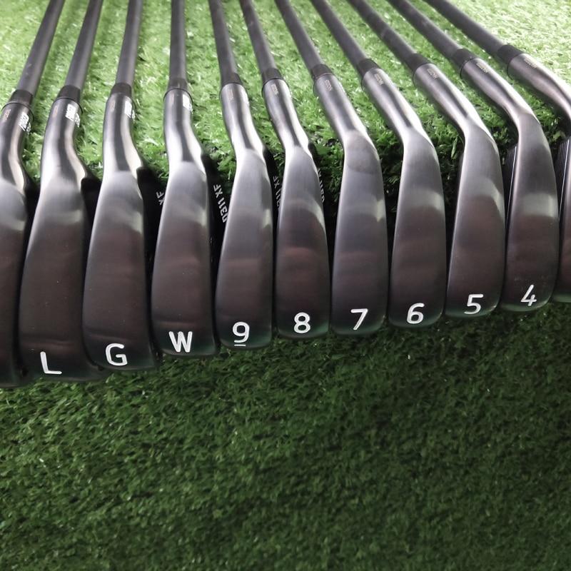 Golf Clubs 11xf Gen2 Black Irons Set 4-9WG Gen2 11xf Golf Iron Steel Shaft Or Graphite R Or S Golf Shaft Free Shipping