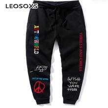 Men's pants printed jogging pants street fleece sports