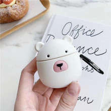 3D Cute Cartoon Bear Earphone Case For Airpods 2 Silicone Soft Headphone for Apple Air pods Earpods Cover Accessories