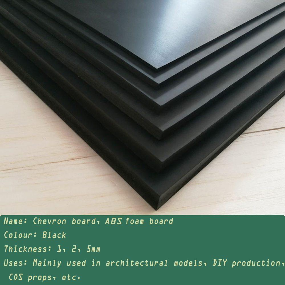 Sand Table Landscape 250x200mmChevron Board Building Model Making Sheet ABS Foam Board Handmade Toy Making Black Back Board