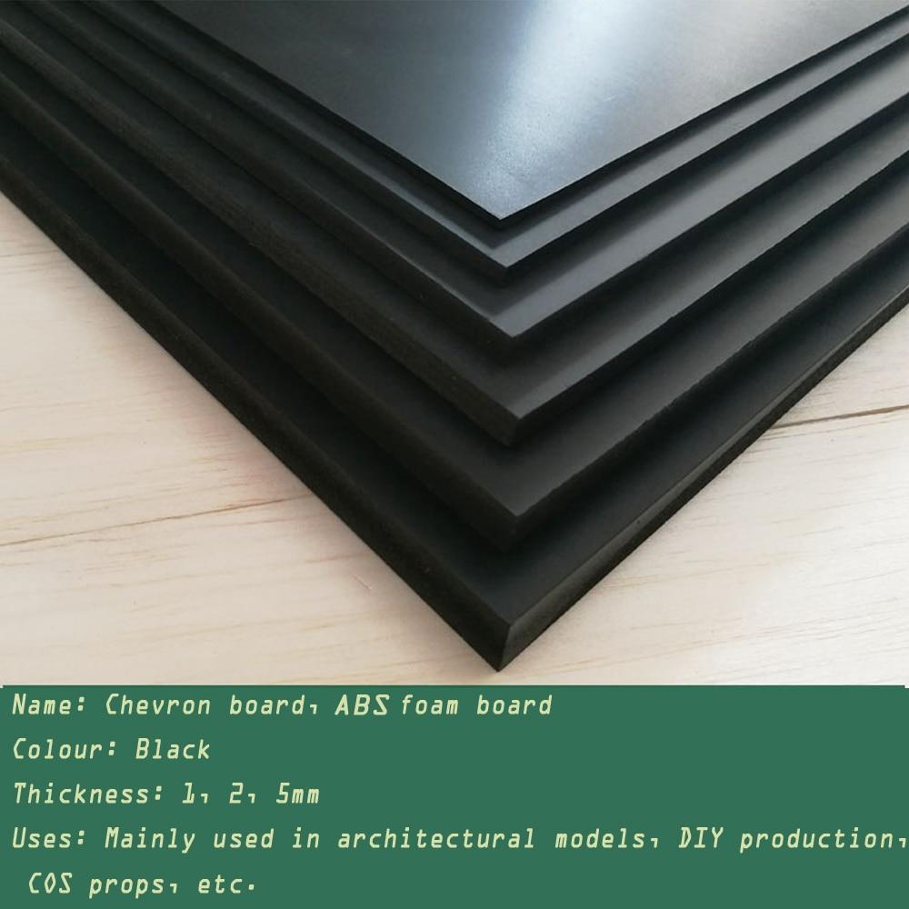 Sand Table Landscape 250x200mmChevron Board Building Model Making Sheet ABS Foam Board Handmade Toy Making Black Back Board
