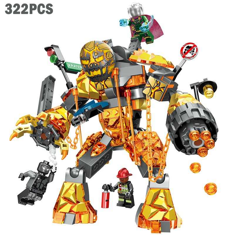 322pcs Eroico Expedition Spider-Man War Pompiere Building-block Giocattoli Compatibile con Legoinglys FAI DA TE Educare I Bambini Di Natale