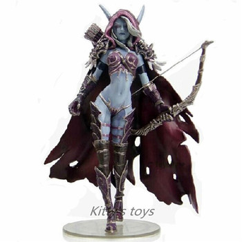 14cm WOW Action Figure Toys Sylvanas Windrunner Darkness Ranger Lady PVC WOW Figure For Collection Annie Brinquedos Model KA0444 2