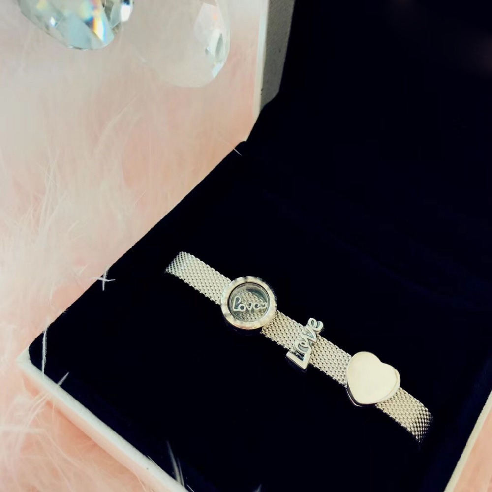 high quality store 1:1 100% 925 silver sterling love heart close free shipping bracelet