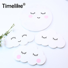 Rabbit Clouds Wall Stickers for Kids Room Baby Bedroom In Sticker Home Decoration Wooden-Plastic Decorative