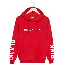 BLACKPINK jin zhi xiu Park cai ying Lisa Kim Ji Ni Celebrity Style Hoodie Men And Women Fall And Winter Clothes Men's Sweatshirt(China)