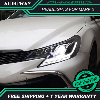 Car Styling For Toyota Mark X headlights ALL led Reiz 2013-2017 Led head lamp ALL LED Mark X Headlight Daytime Running Lights