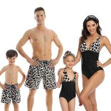 2020 летние купальники одинаковые наряды для всей семьи мамы