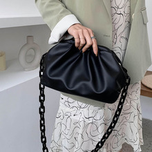 [BXX] Chain Shoulder Bag for Women 2020 Solid Color Luxury Cloud Bag Female Crossbody Messenger Handbags Lady Party Clutch HM043