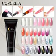 COSCELIA Glitter Poly Nail Gel Nail Extension Gel kit Cat Eyes UV Building Jelly Gel Polish Manicure Set