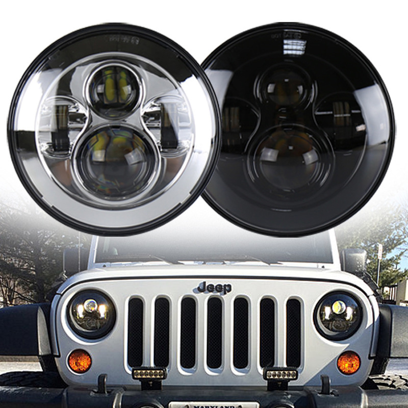 The Vectra Cars Harley For 7 Inch LED Headlights 40 W Jeep Wrangler Headlight