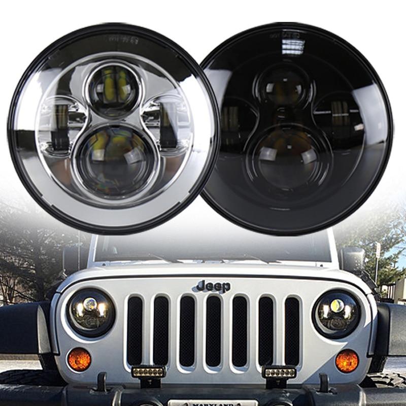 The Vectra Cars Harley For 7 Inch LED Headlights 40 W Jeep Wrangler Headlight