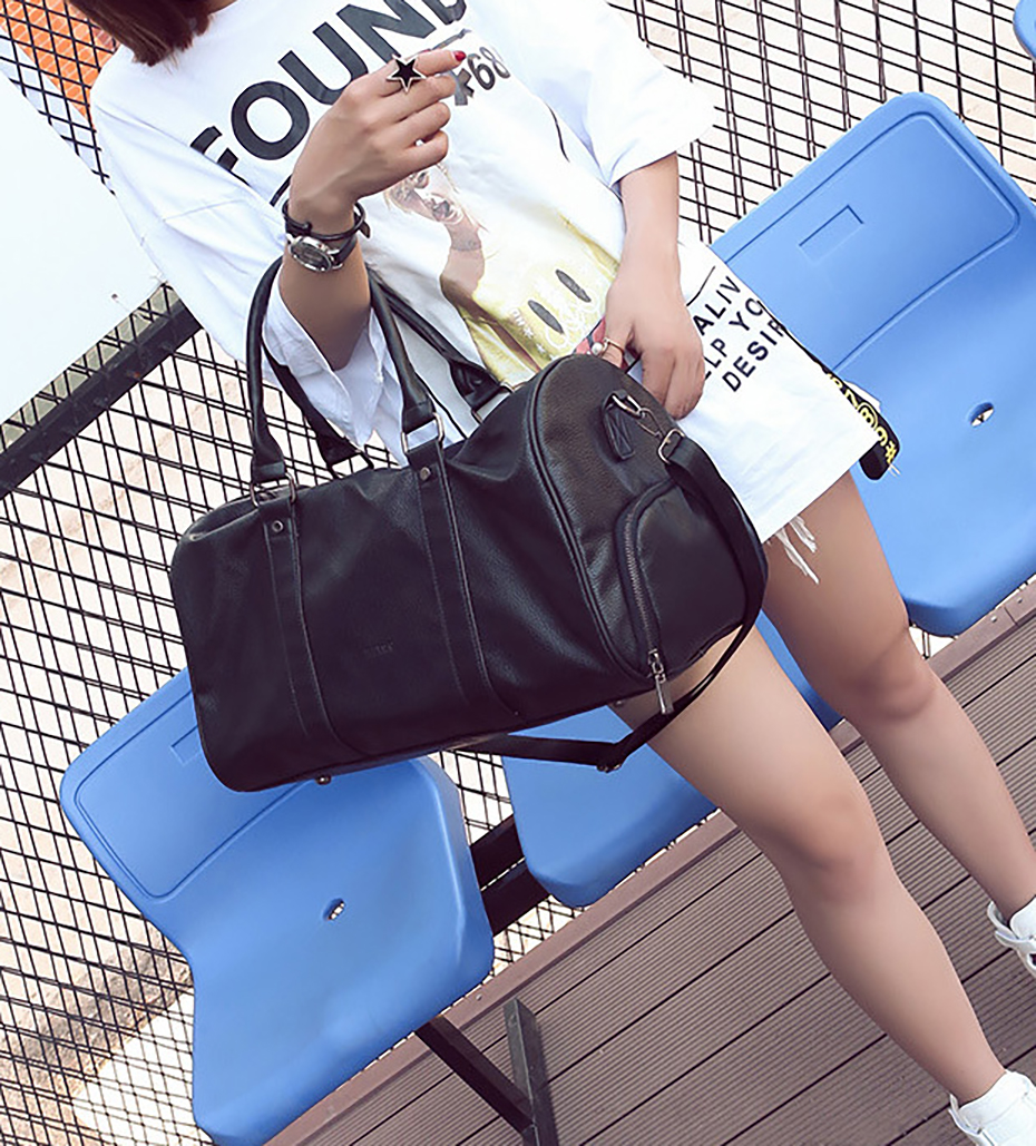 Men's Leather Sports Training Bag Durable Gym Bags For Men Women Fitness Military Training Handbag Leather Travel Luggage Tote02
