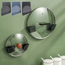 Lid-Holder Cooker-Stand Cutting-Board Wall-Mounted Kitchen Pot Gadget Pan Unperforated-Pan