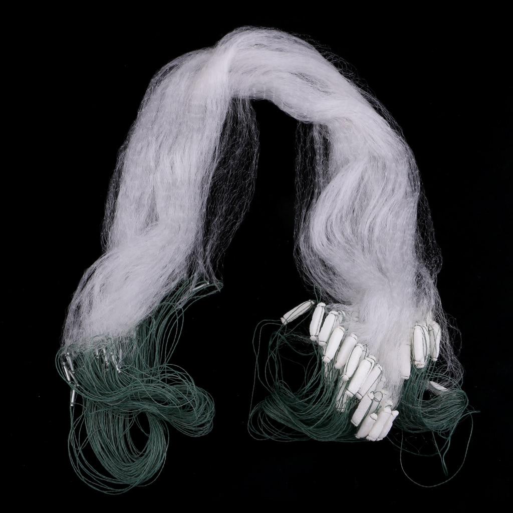 15 м Однослойная рыболовная сеть Gillnet плавающая с высокой плотностью метод рыболовная рыба жаберная сеть плавающая Сетка Ловушка один палец инструмент