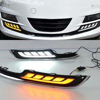 2X LED DRL Daytime Running Light Steering Light Source Car Styling Waterproof White Day Light For VW Golf 7 2013 2014 2015 2016