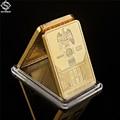 German Berlin 999/1000 Gold Reichskanzlei Hof Replica Iron Cross Bar Deutsche Reich Eagle and Deer Gold Plated Souvenir Coin