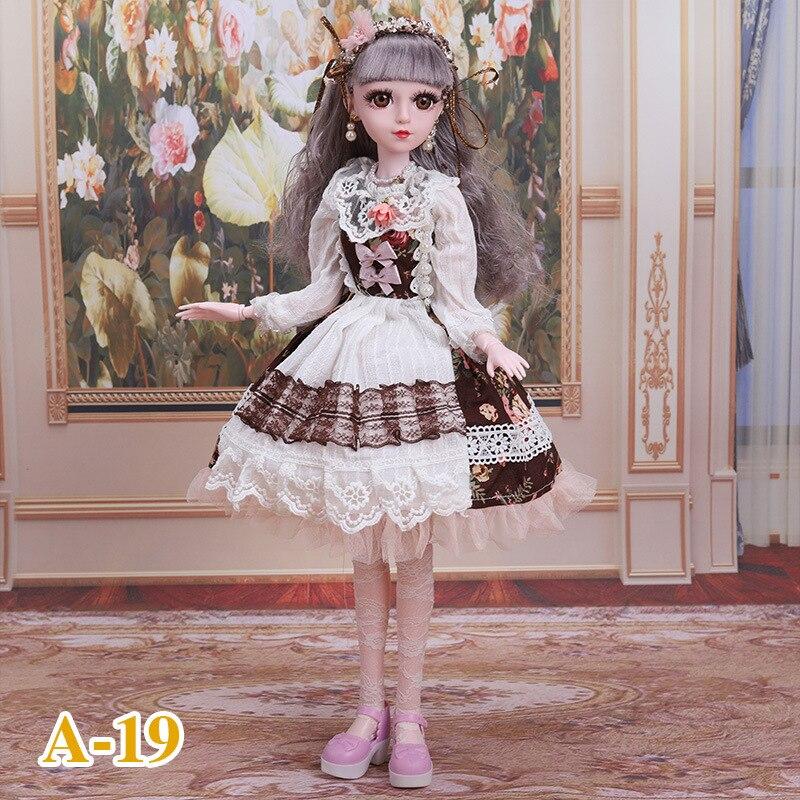 1/3 BJD Puppe Zubehör 60cm 15 Stil Puppe der Kleid für Puppe Kleidung Kinder Spielzeug Zubehör Puppen Hochzeit Kleid geschenke für Mädchen