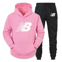 2021 new track suit men's fashion hoodie men's suit brand NB suit men's sports casual shirt + sports casual pants autumn and win