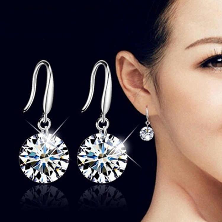 2019 New Earrings Korean Version Of The Fashion Cute Shiny White Crystal Multicolor Long Earrings Women's Jewelry Drop Earrings