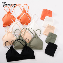 TERMEZY Japanese Sexy Women Lingerie Wireless Bra Set Thin Beauty Back Push Up With Pad Panties Comfortable Underwear