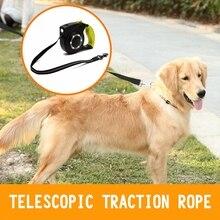 Светодиодный фонарики нейлон Прогулки поводок для собак, поводок для собак, автоматический поводок Выдвижной Поводок для собак