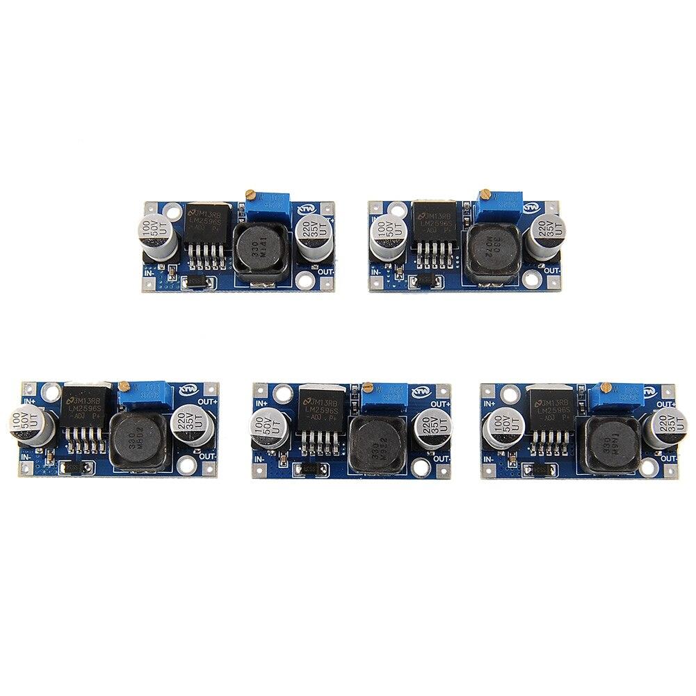 Buck Step Down Module 5pcs Converter LM2596 65KHz Adjustable DC Buck Regulator 3A Power Electrical 1.25-35V Supply