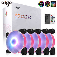 Aigo Baru RGB Fan 120 Mm LED Komputer PC Kipas RGB Tenang Remote 5 V 3pin Aura Sync Komputer CPU Cooler Cooling Menyesuaikan Kipas Case(China)