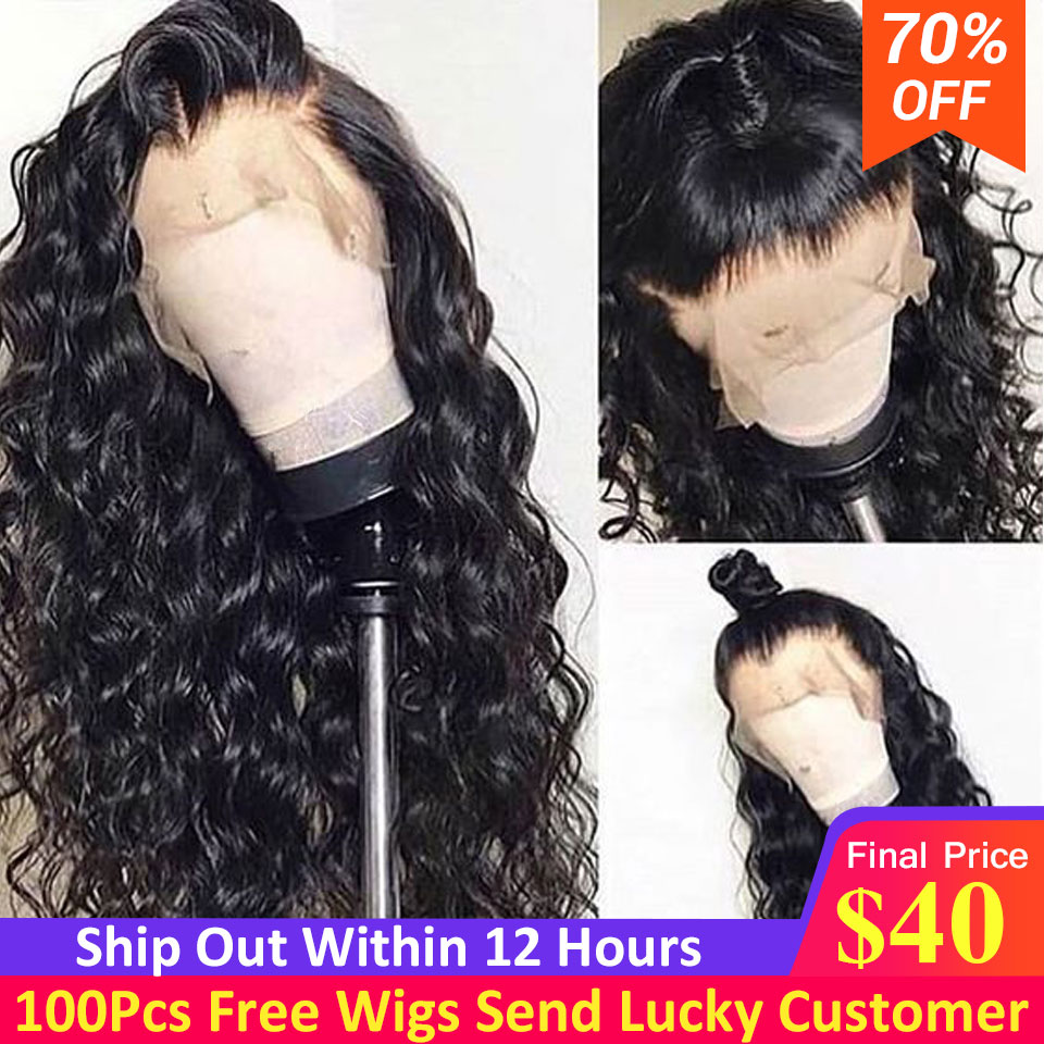 Loose Wave Lace Front Human Hair Wigs Pre Plucked With Baby Hair Brazilian Remy Natural Hair Human Hair Wigs For Black Women