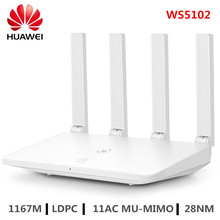 HUAWEI WS5102 WiFi Router 2.4GHz + 5GHz Dual Band Smart Home Draadloze Router 100M LDPC 11AC MU MIMO ondersteuning IPv6 WiFi Versterker
