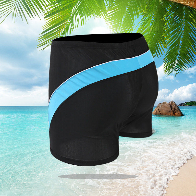 New Style Men Boxer Swimming Trunks Beach Hot Springs-Style Swimming Trunks Plus-sized Large Size Swimming Trunks Men's Straight