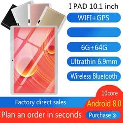 2020 darmowa wysyłka 10 cal 3G tablet z funkcją telefonu PC osiem rdzeni RAM 6GB ROM 32GB 64GB Android 8.0