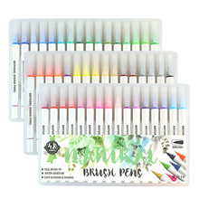 48 colors color color can be smudged brush painting writing stationery set student art student calligraphy