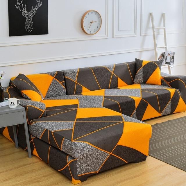 Elastische Sofa Cover L Vormige Bank Cover Eenvoudige Stijl Meubilair Woonkamer Sofa Cover Anti Fouling sofa Bed Cover