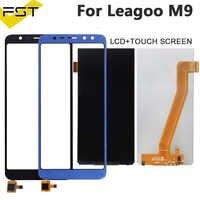 Negro/azul 640*1280 para Leagoo M9 Pantalla LCD + digitalizador de Pantalla táctil para Leagoo M9 LCD Panel Sensor con herramientas
