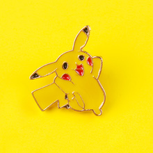 Cartoon Pikachu Brooch and Enamel Pin Cute Pokemon Lapel Pin Badge for Clothes Backpack Jeans Jackets Metal Brooches Gifts quality metal enamel badge and souvenir logo custom lapel pin name car army flag tin emblem police military metal button soft