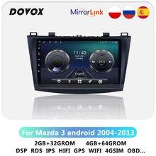 DOVOX Android Für Mazda 3 2004-2013 GPS Navigation Auto Radio Multimedia Video-Player 2 din DSP RDS 4G 2din keine DVD