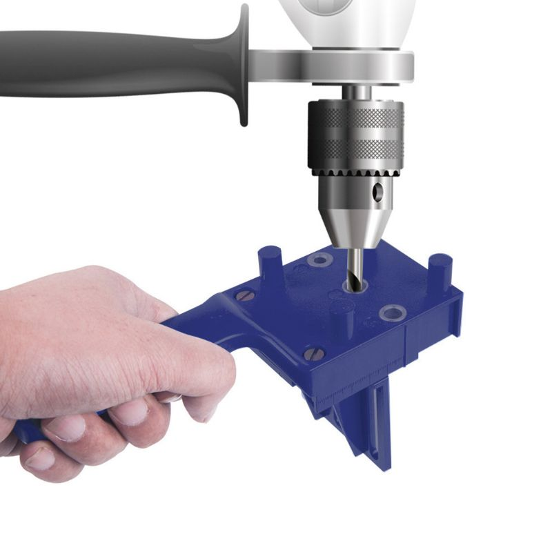 Woodworking Doweling Jig Drill Guide Wood Dowel Drilling Hole Saw Template
