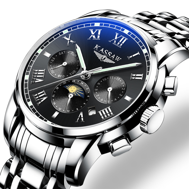 Watch Man Automatic Mechanics Surface Male Surface Hollow Out Noctilucent Waterproof Stainless Steel Men's Wrist-watches K826