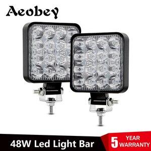 Led light bar 48w Led bar 16barra Led car light For 4x4 led bar offroad SUV ATV Tractor Boat Trucks Excavator 12V 24V work light