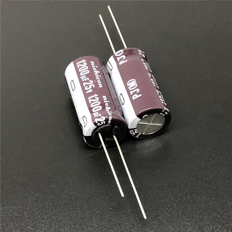 5pcs/50pcs 1200uF 25V NICHICON PJ Series 12.5x25mm 25V1200uF Low Impedance Long Life Aluminum Electrolytic Capacitor