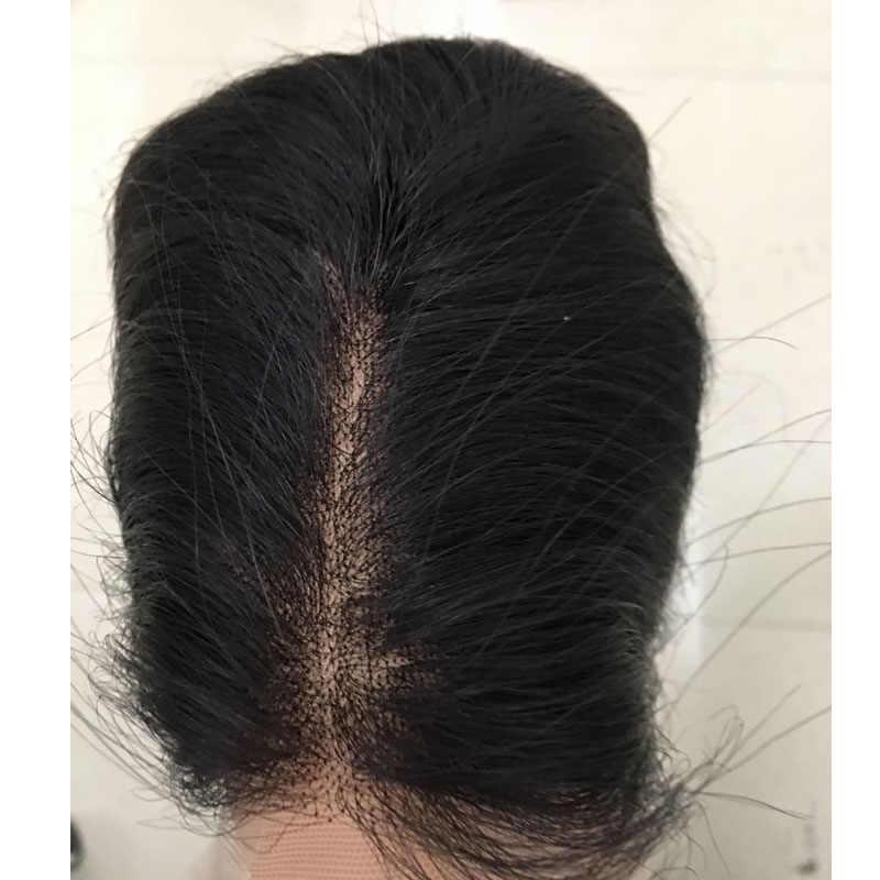Hot sprzedaży koronkowy top peruki miękkie włosy peruka naturalne i płaskie na górze europejskiej włosy peruka żydowska koszerna peruka najlepsze Sheitels w magazynie
