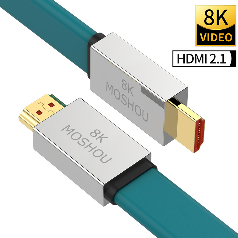HDMI 2 1 Cables 8K 60Hz 4K 120Hz MOSHOU 48Gbps bandwidth ARC Video Cord for Amplifier TV High Definition Multimedia Interface