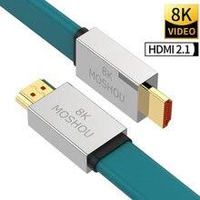 HDMI 2.1 kabloları 8K 60Hz 4K 120Hz MOSHOU 48Gbps bant genişliği ark Video kablosu amplifikatör TV yüksek çözünürlüklü multimedya arayüzü